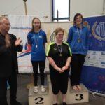 Herdís með silfur og Anna Rósa með brons fyrir 50m baksund.